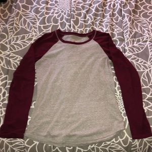 Grey and maroon long sleeve t-shirt from Justice